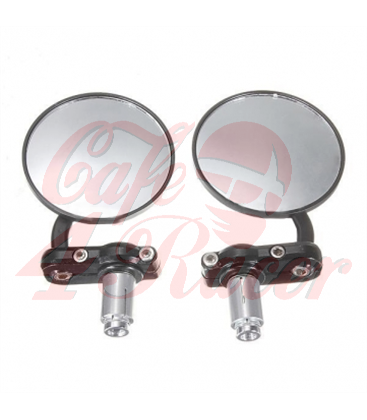 Round Handle Bar End Side Mirrors