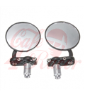 Round Handle Bar End Side Mirrors CR1  black/silver