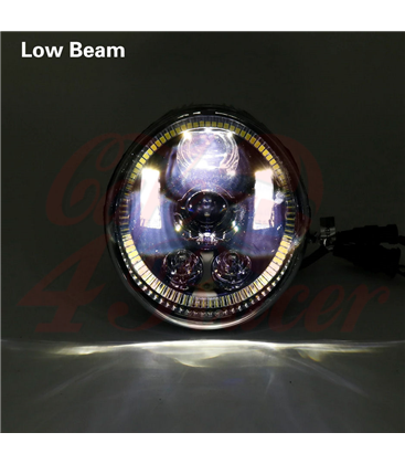 Oval Harley Headlight Led Headlamps insert black Hallo ring DRL
