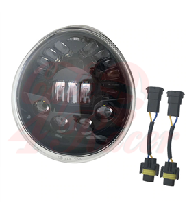 Oval Harley style  Headlight Led Headlamps insert black