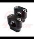 Konzola držiak riadítok  22mm | Výška 32mm čierne