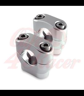 Konzola držiak riadítok  28.6mm  Výška 32mm stireborné