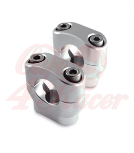 Risers 28.6mm | Height 32mm anodized silver
