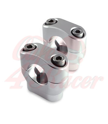 Risers 28.6mm   Height 32mm anodized silver