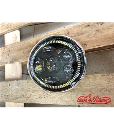 Oválne Harley Hlavné LED svetlo  vložka čierna  Hallo ring DRL