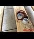2PCS Motorcycle Handlebar LED Turn Signal Grip Bar End Lights  silver