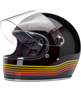 Biltwell Gringo S ECE Helmet Gloss Black Spectrum