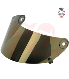 Biltwell Gringo S Flat Shield Gold Mirror Anti Fog