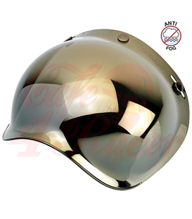 Biltwell Bubble Shield Gold Mirror Anti Fog