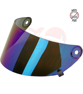 Biltwell Gringo S Flat Shield Rainbow Mirror Anti Fog