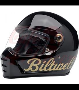 Biltwell Lane Splitter Helmet Full Face Gloss Black