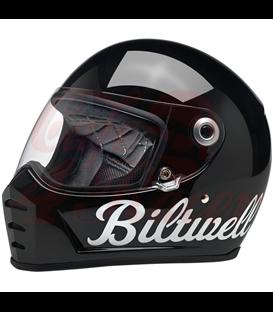 Biltwell Lane Splitter Helmet Full Face Factory Gloss Black Gold