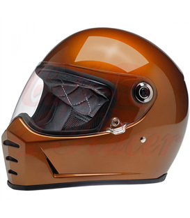Biltwell Lane Splitter Helmet Full Face Gloss Copper