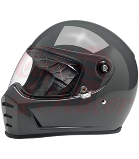 Biltwell Lane Splitter Helmet Full Face Gloss Storm Grey