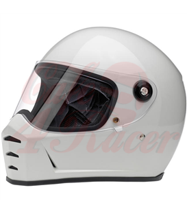 Biltwell Lane Splitter Helmet Full Face Gloss White