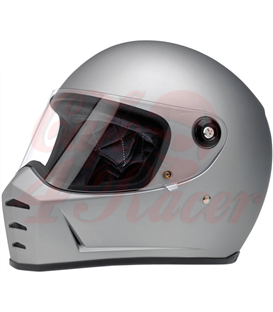 Biltwell Lane Splitter Helmet Full Face Flat Silver