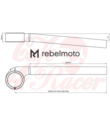 Rebelmoto Clip-Ons   Low Rise clip-ons 41.3mm BMW K series SILVER