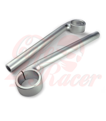 Rebelmoto Clip-Ons | Low Rise clip-ons 41.3mm BMW K series SILVER