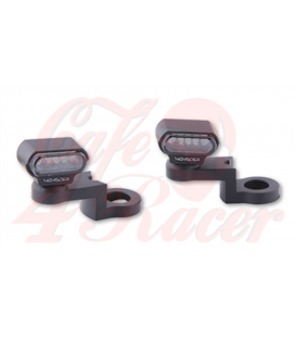 HIGHSIDER LED turn signal with CNC mirror mounting TYPE 1 black