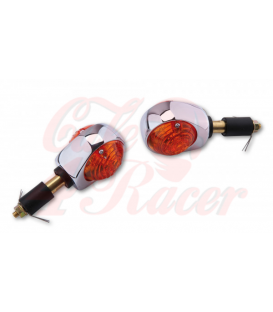 SHIN YO bar-end-indicator BULLS´ EYE Chrome - red lens