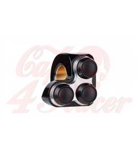 """Motogadget MO-Switch BASIC 3 tlačidlový  Pravá strana čierno strieborné  22mm 7/8"""" alebo 1"""""""