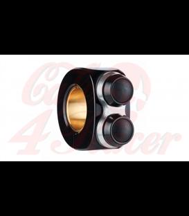 """Motogadget MO-Switch BASIC 2 tlačidlový  čierno strieborný  22mm 7/8"""" alebo 1"""""""