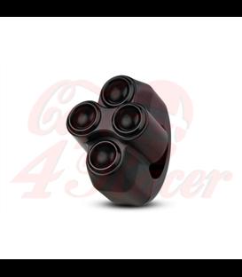 "Rebel tlačidlo 4 button – čierny 25,4mm 1"""