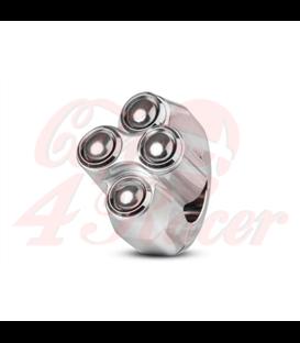 "Rebel tlačidlo 4 button – leštený 25,4mm 1"""