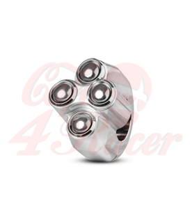 "Rebel tlačidlo 4 button – leštený 22mm 7/8"""