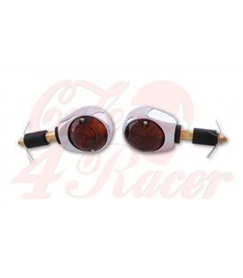 SHIN YO bar-end-indicator BULLS´ EYE Chrome - tinted lens
