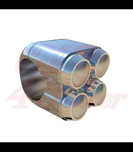 """Štvor Micro tlačidlo pre riaditká  22mm 7/8"""" CHROME"""