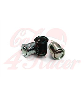 12 mm Push Button Chrome