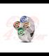 "Rebel switch 4 button LED – Polished 22mm 7/8"" Handlebar"