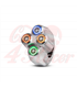 "Rebel tlačidlo 4  button LED – leštené 22mm 7/8"""