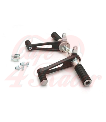 TAROZZI  Universal rear sets for cafe racer  - fixed footpegs
