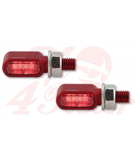 HIGHSIDER LED tail light, brake light, indicators LITTLE BRONX RED