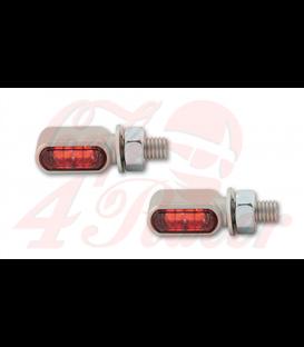 HIGHSIDER LED zadné svetlo, brzdové svetlo, smerovky LITTLE BRONX SILVER