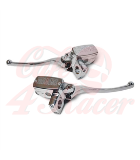 25mm Hydraulic Brake / Clutch Set - Chrome