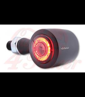 HIGHSIDER CNC LED 3in1 brzda, smerovka, zadné svetlo ENTERPRISE-EP1 s červeným vzorom