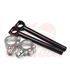 Cafe Racer Clip-ons Type 1 - Silver , black tubes  41mm