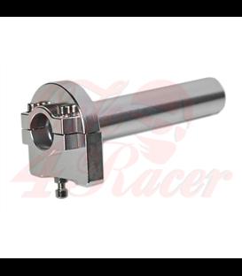 22mm CNC machined aluminum twistgrip silver