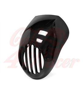 Prison Grill Black Headlight Fairing For Sportster