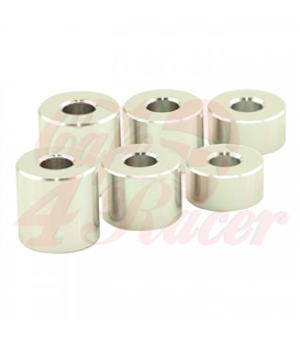 Spacer set silver matte Alu  6 pieces Ø inside 8 mm Ø outside 20 mm each 2 x H 10/15/20 mm