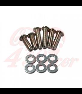 Headlight screw set chrome | 12 pieces | 2 x M8 x 25/30/35 mm each + washer
