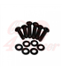 Headlight screw set black | 12 pieces | 2 x M8 x 25/30/35 mm each + washer