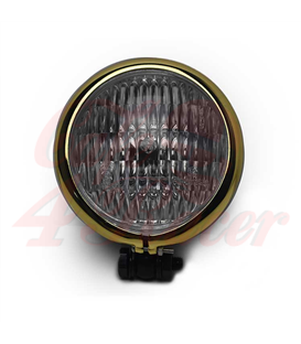 5'' 35W Halogen Motorcycle Headlight - Gold Bezel