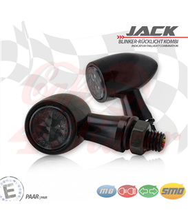 "SMD turn signal / RL set ""Jack""  3in1 black"