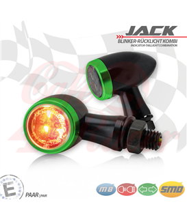 "SMD turn signal / RL set ""Jack""  3in1 green"