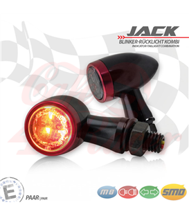 "SMD turn signal / RL set ""Jack""  3in1 red"