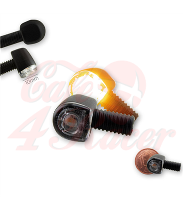 Bullet Atto LED-indicator from Kellermann, black, clear lens